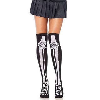 Skeleton Stockings - BLACK/WHITE - One Size Fits most