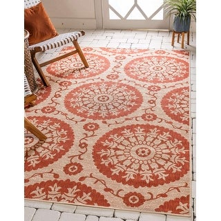 Link to Unique Loom Outdoor Medallion Area Rug Similar Items in Transitional Rugs