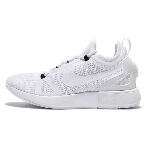 Nike Womens Duel Racer Knit Low Top Lace Up Running Sneaker