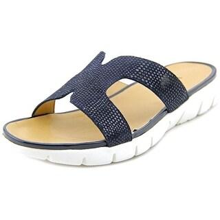 Vaneli Keary Open Toe Leather Slides Sandal