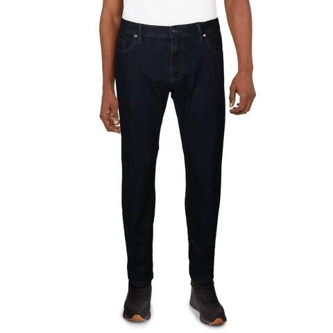 Robert Graham Mens Koch Jeans Denim Mid-Rise - Indigo