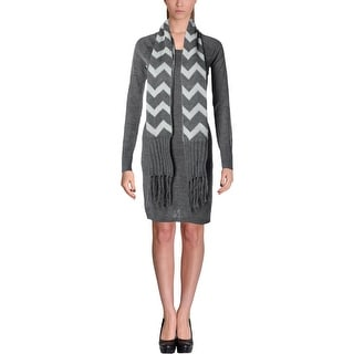 Energie Womens Juniors Lindsay Sweaterdress Heathered Long Sleeves