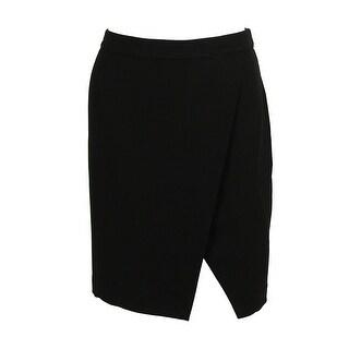 Ralph Lauren Women's Crepe Pencil Skirt - Black