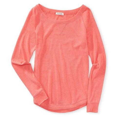 Aeropostale Womens Solid Raglan Sweatshirt