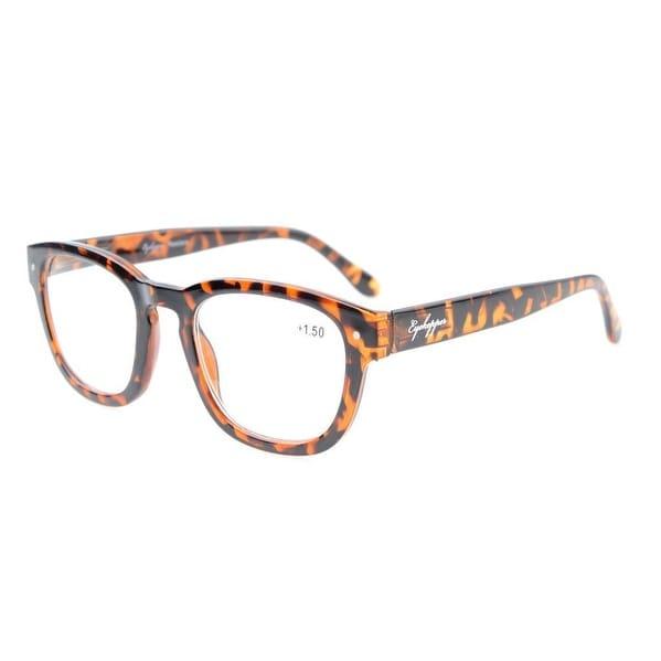 Eyekepper Reading Glasses Professor Vintage Style Spring Hinges Arms DEMI +0.75