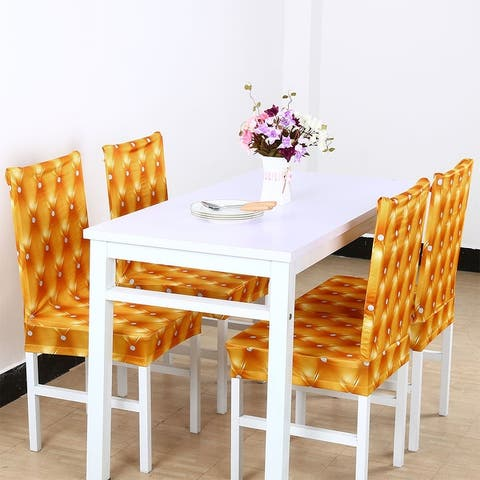 Spandex Stretch Short Chair Seat Covers Dining Chair Slipcovers