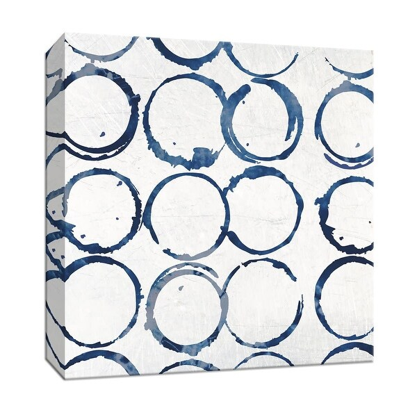 """PTM Images 9-147318 PTM Canvas Collection 12"""" x 12"""" - """"Indigo Rings"""" Giclee Patterns and Designs Art Print on Canvas"""