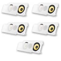 "Acoustic Audio HD6c In-Wall Dual 6.5"" Speakers Home Theater 5 Speaker Set"