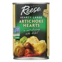 Reese Artichoke Hearts - Hearty Large - Case of 12 - 14 oz.