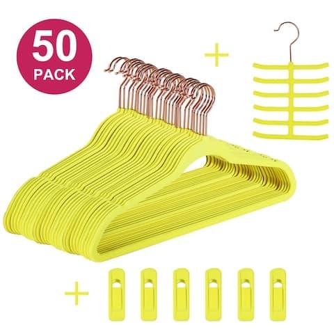 Velvet Hangers Suit/Shirt Heavy Duty Hangers 30/50/100 Pack (Multiple colors for choice)