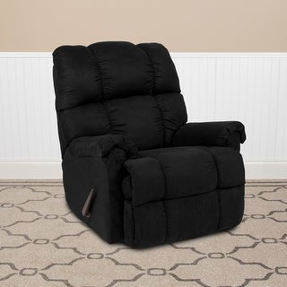 Link to Sierra Contemporary Microfiber Plush Rocker Recliner Similar Items in Living Room Furniture