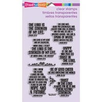 """Hope Verses - Stampendous Perfectly Clear Stamps 4""""X6"""" Sheet"""