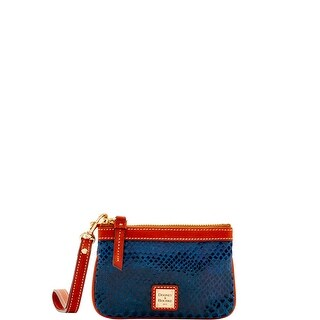 Dooney & Bourke Snake Medium Wristlet (Introduced by Dooney & Bourke at $68 in Nov 2016) - Blue
