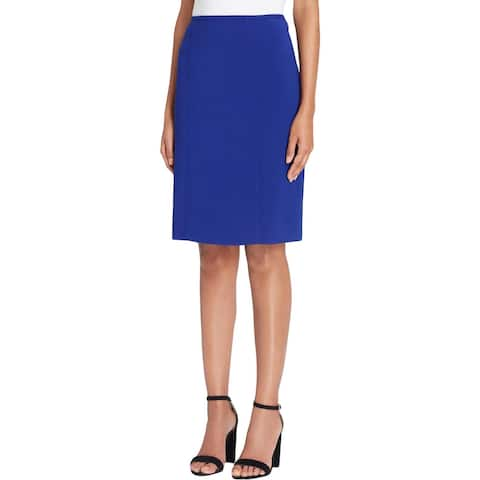 Tahari Womens Pencil Skirt Pleated Office