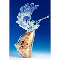 """14.75"""" Angel With Scene Of Holy Family Christmas Decoration #39293"""
