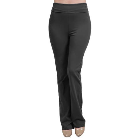 ae4e9d35627 NE PEOPLE Womens Solid Color Comfy High-Waisted Stretchy Long Pants