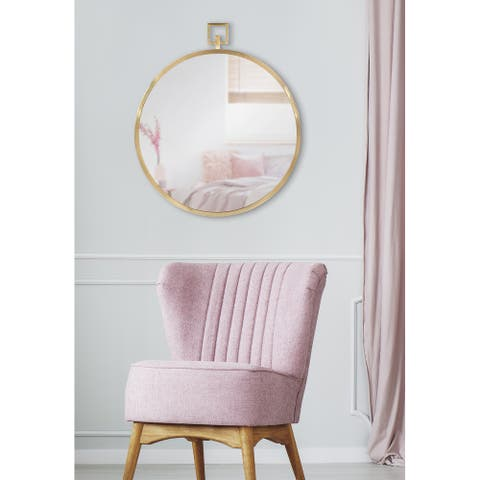 Kate and Laurel Tabb Round Framed Mirror
