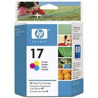HP No. 17 Tri-Color Ink Cartridge - 430 Page - Yellow  Cyan  Magenta
