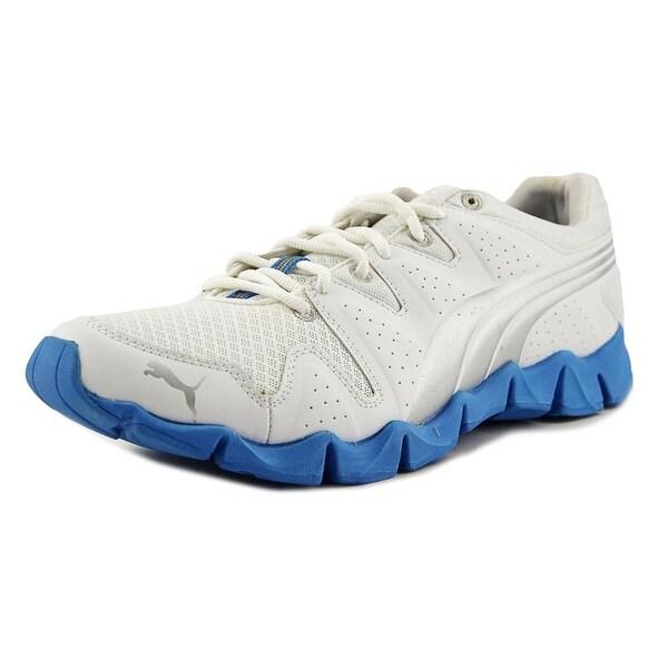 Puma Shintai Runner Men White-Silver-Malibu Blue Running Shoes