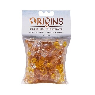 BioBubble Acrylic Gems 5 ounce bag Golden Amber