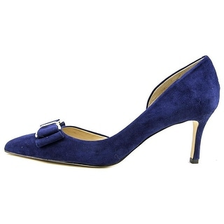 BCBGeneration Womens PERRYN Suede Pointed Toe D-orsay Pumps