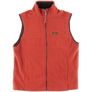 Bass Mens Fleece Contrast Trim Outerwear Vest