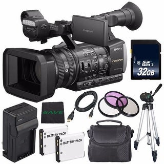 Sony HXR-NX3/1 NXCAM Professional Handheld Camcorder + Charger Kit for Sony NP-F970 + 72mm 3 Piece Filter Kit Bundle
