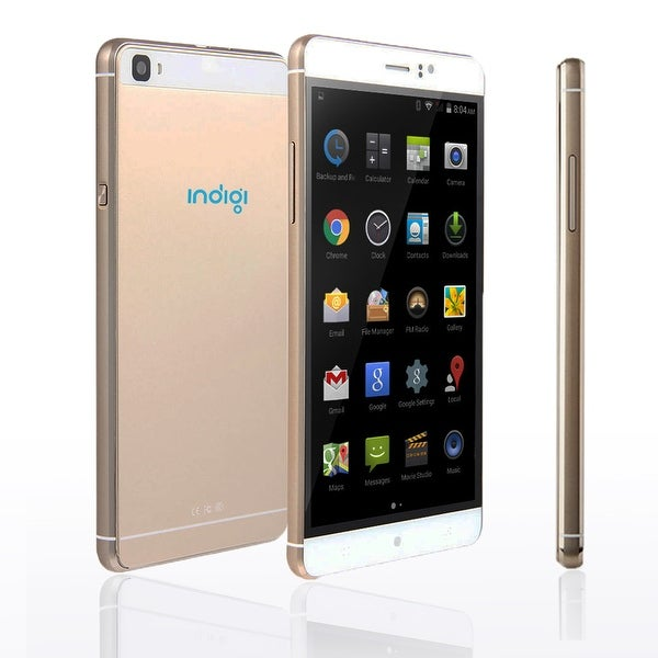 "Indigi® 3G Factory Unlocked 6.0"" HD DualSim SmartPhone Android 5.1 Lollipop w/ WiFi + Bluetooth Sync + Google Play Store - GOLD"