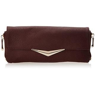 Big Buddha Womens Ryder Faux Leather Convertible Clutch Handbag - Bordeaux - Medium