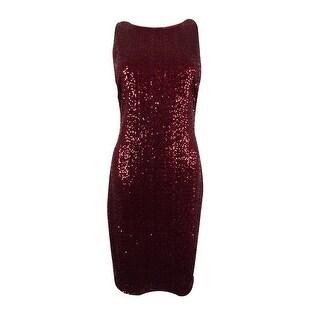 Ralph Lauren Women's Sleeveless V-Back Sequined Dress - vibrant garden - 6