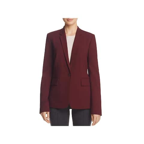 Theory Womens One-Button Blazer Wool Casual