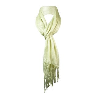 Collection Eighteen Women's Liquid Sparkle Woven Fringe Scarf - os