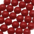 Czech Glass Round Party Beads 6mm - Dark Red (1 Strand / 29 Beads) - Thumbnail 0