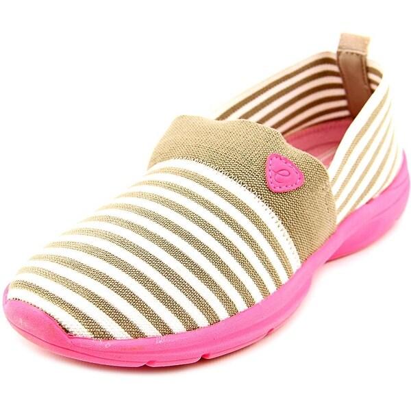 Easy Spirit e360 Quiet Step Women N/S Round Toe Canvas Tan Walking Shoe