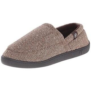 Isotoner Mens Aline Tweed Memory Foam Slip-On Slippers
