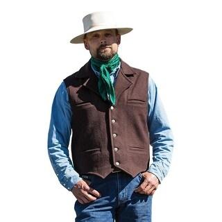 Schaefer Western Vest Mens Classic Cattle Baron Melton Wool