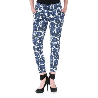 Mother of Pearl Womens Sevan Poplin Floral Print Dress Pants - 2