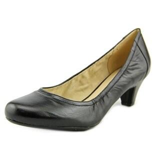 Naturalizer Starlight Women Round Toe Leather Black Heels