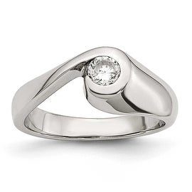 Chisel Stainless Steel CZ Ring (3 options available)