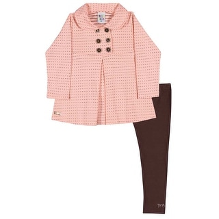 Toddler Girl Outfit Pea Coat Jacket and Leggings Set Pulla Bulla 1-3 Years