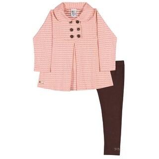 Toddler Girl Outfit Pea Coat Jacket and Leggings Set Pulla Bulla 1-3 Years