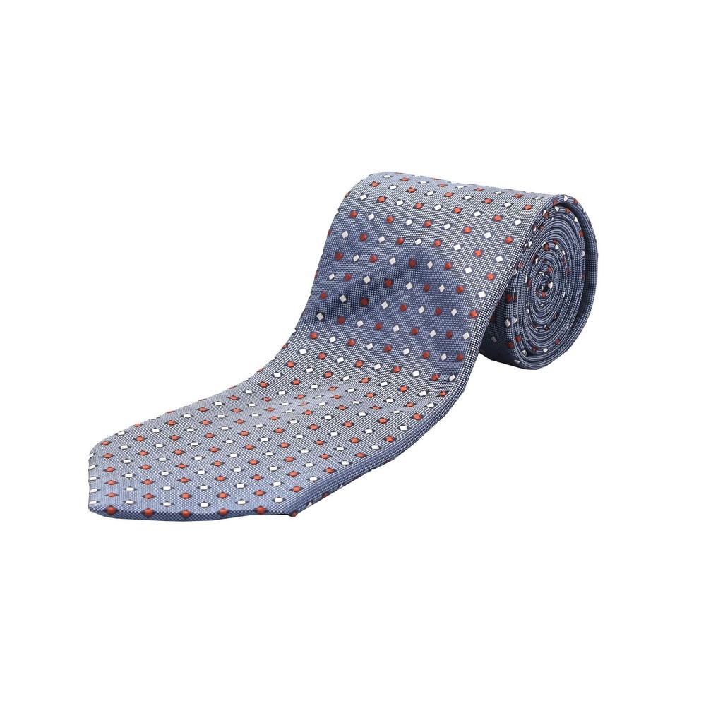 Ermenegildo Zegna Men Slim Silk Neck Tie Blue Red White - Thumbnail 0