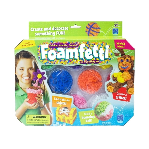 Educational Insights Foamfetti Sculpting Pack