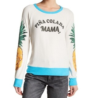 """Chaser Womens Small """"Pina Colada"""" Pullover Sweater"""