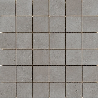 Emser Tile A86UPTO1212MO2  Uptown - Square Mosaic Floor and Wall Tile - Smooth Concrete Visual