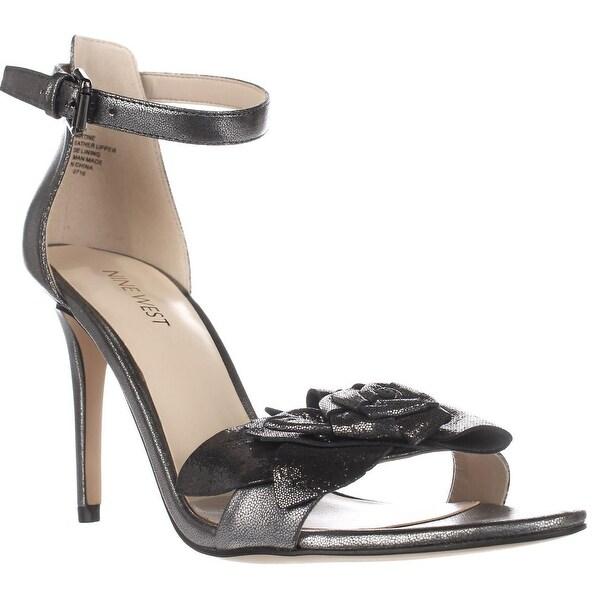 Nine West Martine Ankle Strap Sandals, Pewter/Pewter - 7.5 us