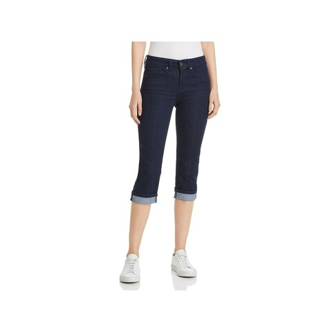 NYDJ Womens Marilyn Straight Crop Jeans Cuffed High Rise