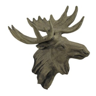 Carved Aged Wood Look Moose Head Wall Decor Free Shipping Today 24407352