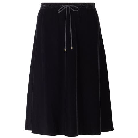 Lauren Ralph Lauren Womens Velvet A-Line Skirt Large Black
