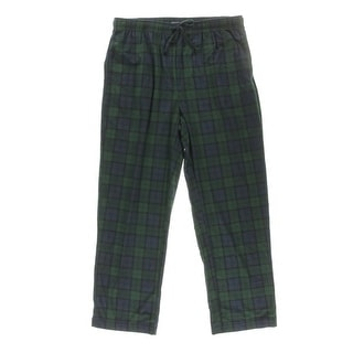 Nautica Sleepwear Mens Fleece Plaid Lounge Pants
